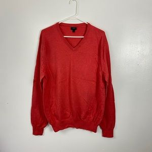 J. Crew Cotton and Cashmere v-neck Sweater